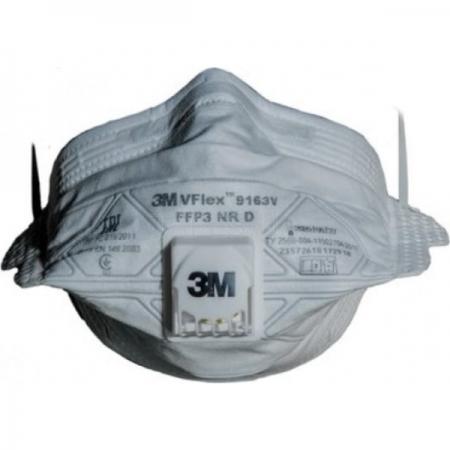 3M 9163V Vflex FFP3 Ventilli Toz ve Sis Maskesi