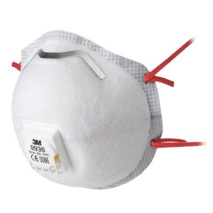 3M 9936 FFP3 Ventilli Düşük Kons. Asit , Gaz , Toz Ve Sis Maskesi